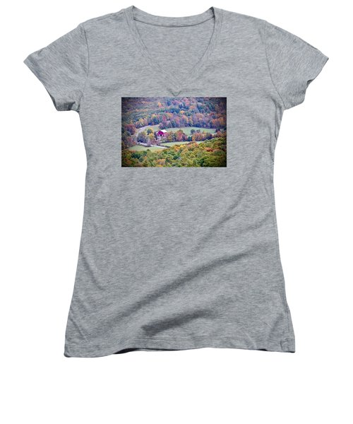 Autumn View, Mohonk Preserve Women's V-Neck (Athletic Fit)