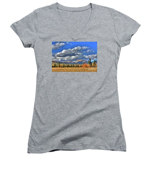 Autumn In The Rockies Women's V-Neck