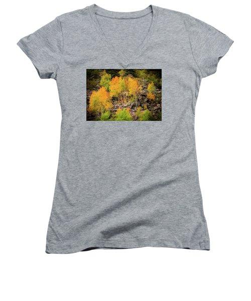 Autumn In The Uinta Mountains Women's V-Neck