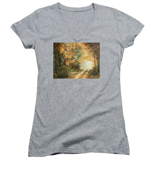 Autumn Lane Women's V-Neck T-Shirt