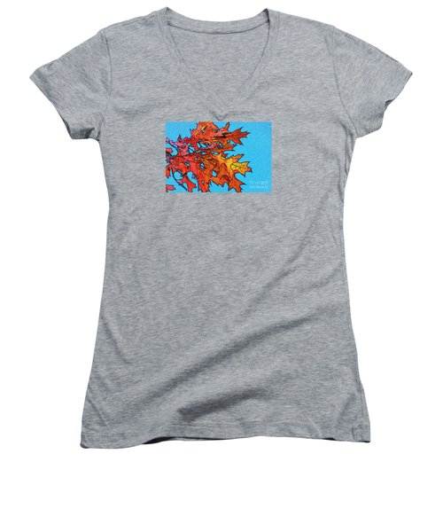 Autumn Leaves 14 Women's V-Neck