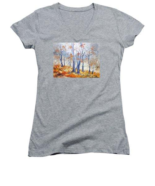 Autumn Mist - Morning Women's V-Neck T-Shirt