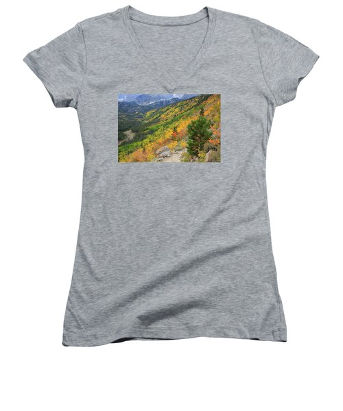 Autumn On Bierstadt Trail Women's V-Neck (Athletic Fit)