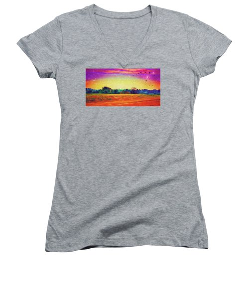 Autumn On Earth Two Women's V-Neck