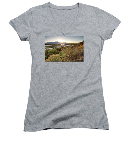 Autumn On The South Fork Women's V-Neck (Athletic Fit)