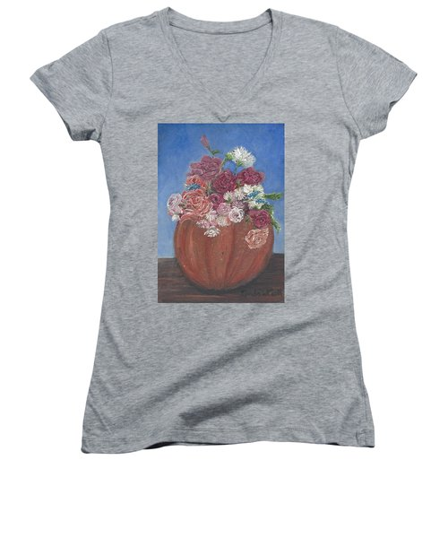 Autumn Petals Women's V-Neck T-Shirt