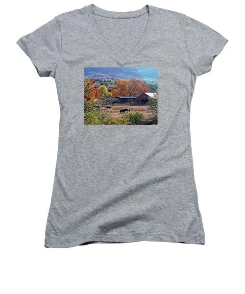 Autumn Ranch Women's V-Neck