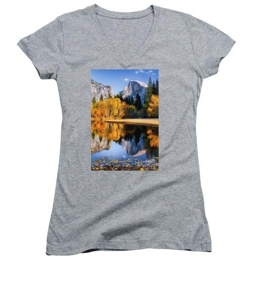 Autumn Reflections Women's V-Neck T-Shirt