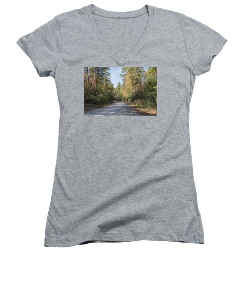 Autumn Road Women's V-Neck T-Shirt