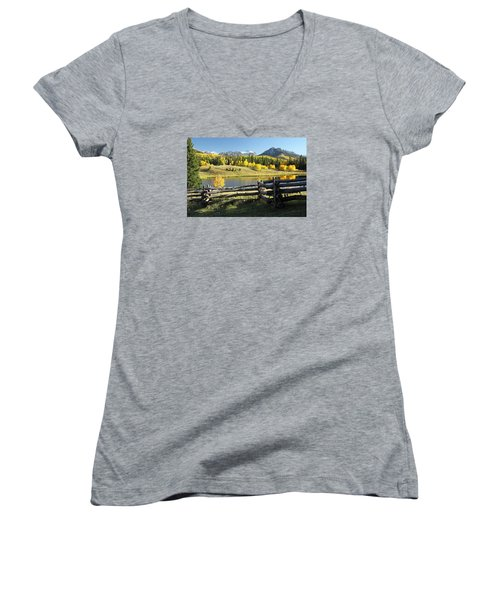 Autumn Serenade Women's V-Neck T-Shirt