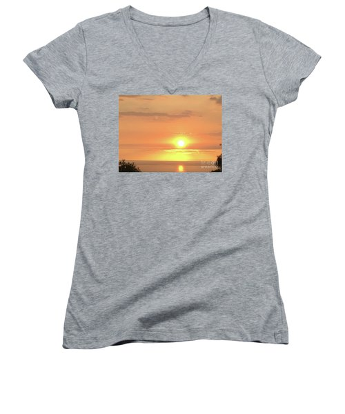 Autumn Sunset Women's V-Neck T-Shirt