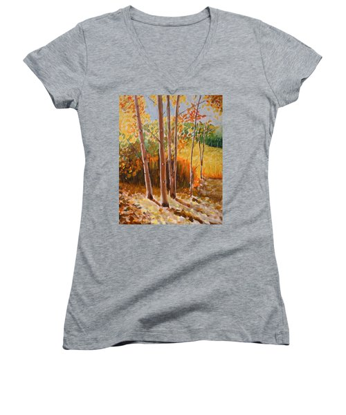 Autumn Trees Women's V-Neck T-Shirt