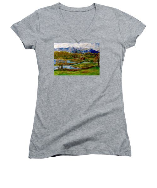Autumn View Of The Trossachs Women's V-Neck T-Shirt