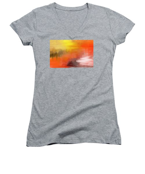 Autumnal Abstract  Women's V-Neck