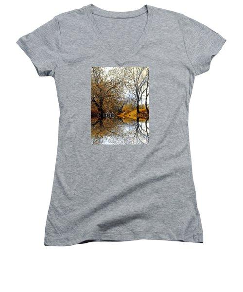 Autumnal Women's V-Neck T-Shirt