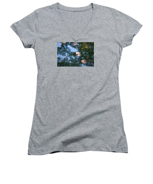Autumn's Here Women's V-Neck (Athletic Fit)