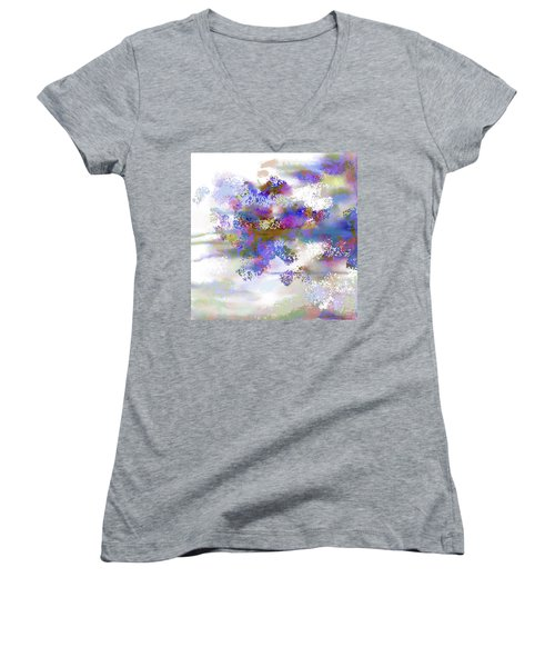 Women's V-Neck T-Shirt (Junior Cut) featuring the digital art Ava Sprite by Constance Krejci