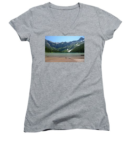 Avalanche Lake Women's V-Neck T-Shirt