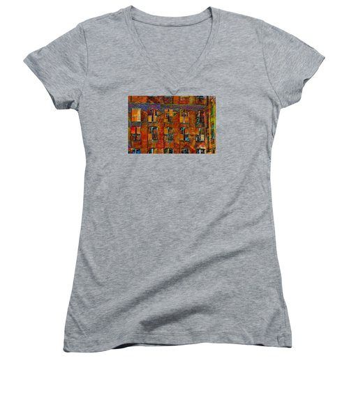 Avant-garde Building Women's V-Neck T-Shirt