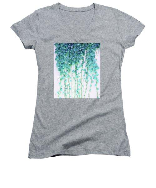 Average Absence Women's V-Neck T-Shirt (Junior Cut) by Uma Gokhale