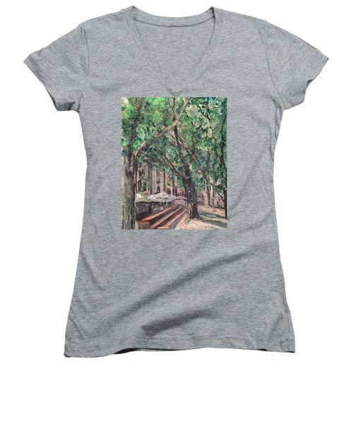Avignon Women's V-Neck T-Shirt (Junior Cut) by Robin Miller-Bookhout