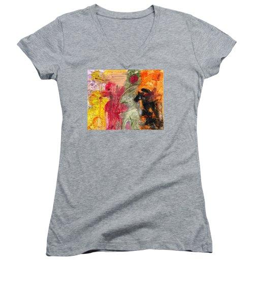 Avoiding The Apocalypse Women's V-Neck T-Shirt