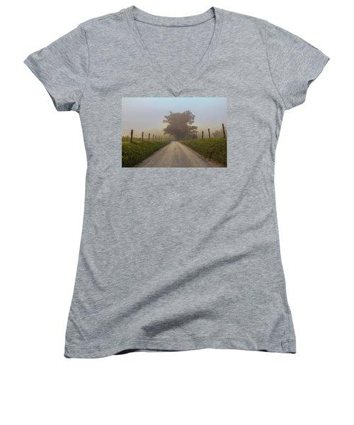 Awaiting The Horizon Women's V-Neck T-Shirt (Junior Cut) by Jessica Brawley