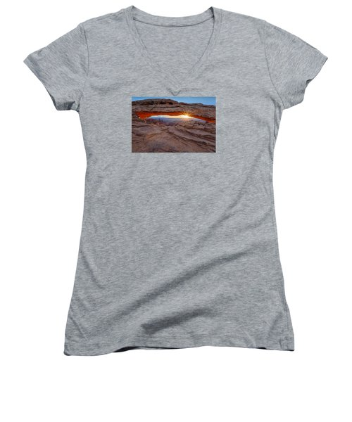 Awakening At Mesa Arch Women's V-Neck (Athletic Fit)