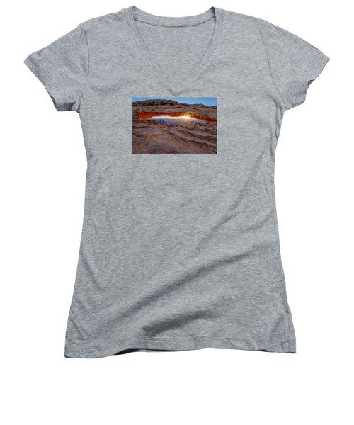 Awakening At Mesa Arch Women's V-Neck