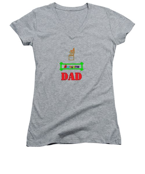 Awesome Dad Women's V-Neck