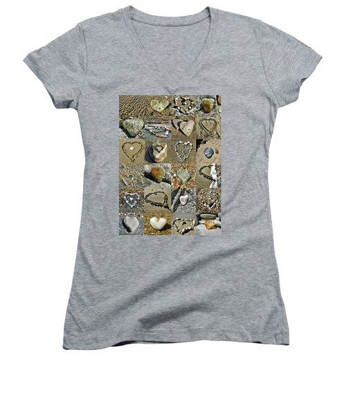 Awesome Hearts Found In Nature - Valentine S Day Women's V-Neck (Athletic Fit)