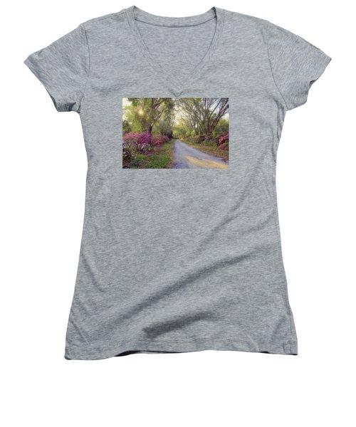 Azalea Lane By H H Photography Of Florida Women's V-Neck T-Shirt