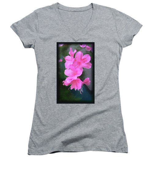 Azalea Spray Women's V-Neck (Athletic Fit)