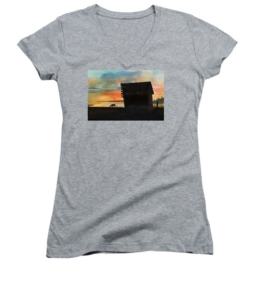 B. C. Barn # 1672 Women's V-Neck T-Shirt