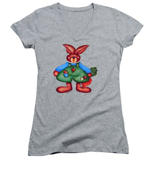 B Is 4bunny Women's V-Neck (Athletic Fit)