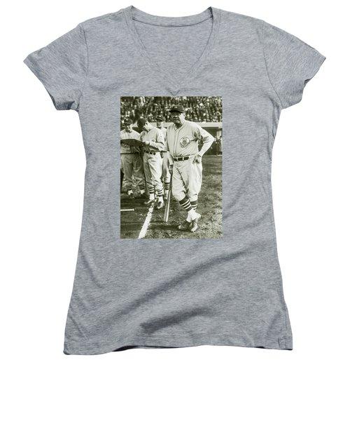 Babe Ruth All Stars Women's V-Neck T-Shirt (Junior Cut) by Jon Neidert