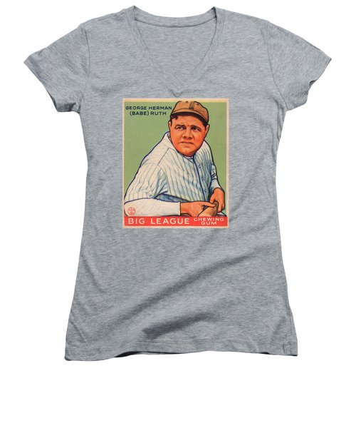 Babe Ruth Women's V-Neck (Athletic Fit)