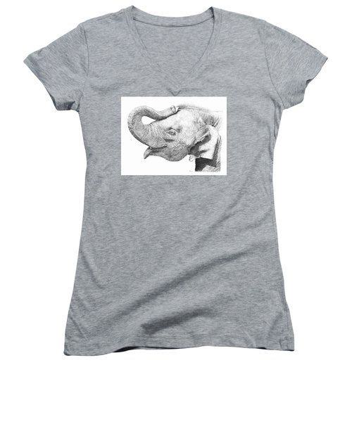 Baby Elephant Women's V-Neck