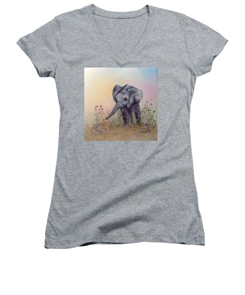 Baby Ellie  Women's V-Neck T-Shirt