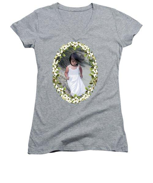 Baby Girl Women's V-Neck T-Shirt (Junior Cut) by Brian Wallace