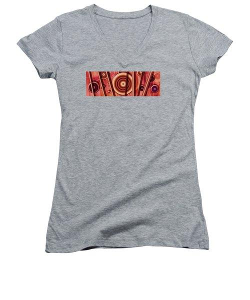 Baby Got A Ball IIi Women's V-Neck T-Shirt (Junior Cut) by Steve Sperry