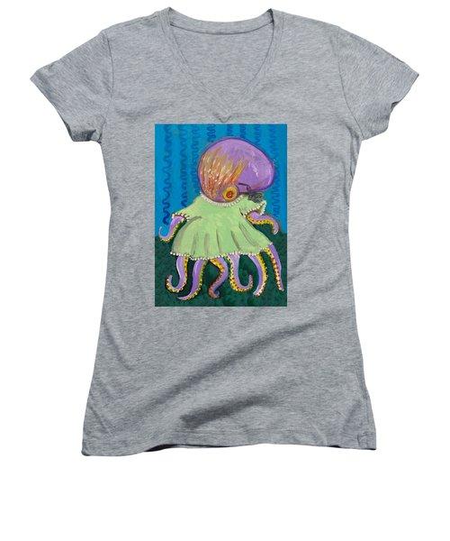 Baby Octopus In A Dress Women's V-Neck