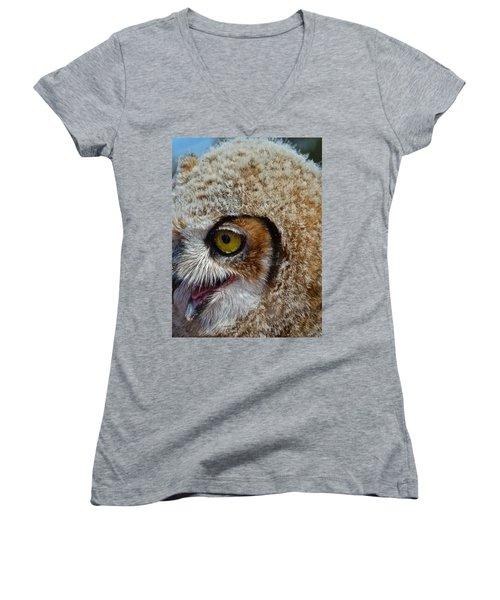 Baby Owl Women's V-Neck