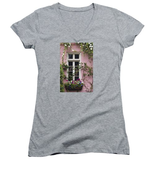 Back Alley Window Box - D001793 Women's V-Neck T-Shirt