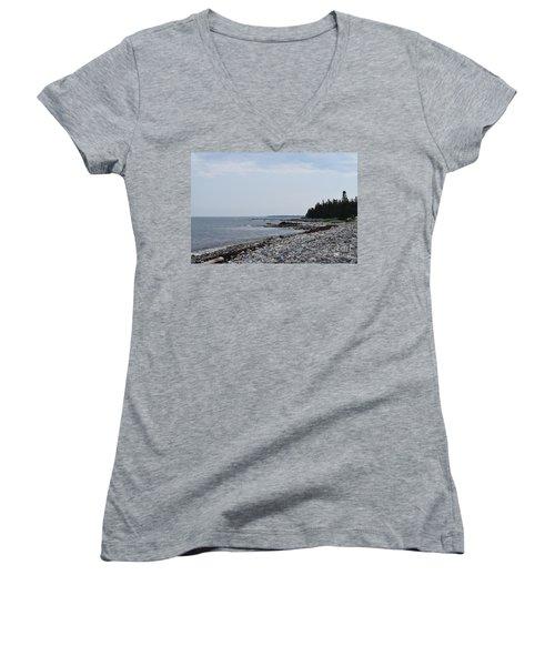 Back Beach Women's V-Neck T-Shirt