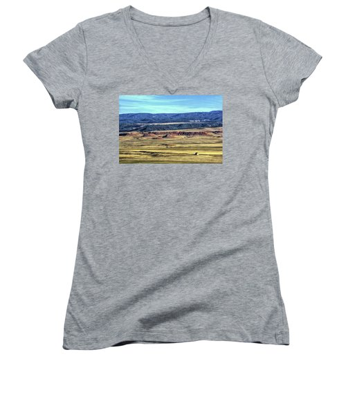 Women's V-Neck featuring the photograph Back In The Day by Fiskr Larsen