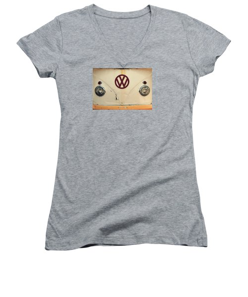 Women's V-Neck T-Shirt (Junior Cut) featuring the photograph Back In The Day by Robin Dickinson
