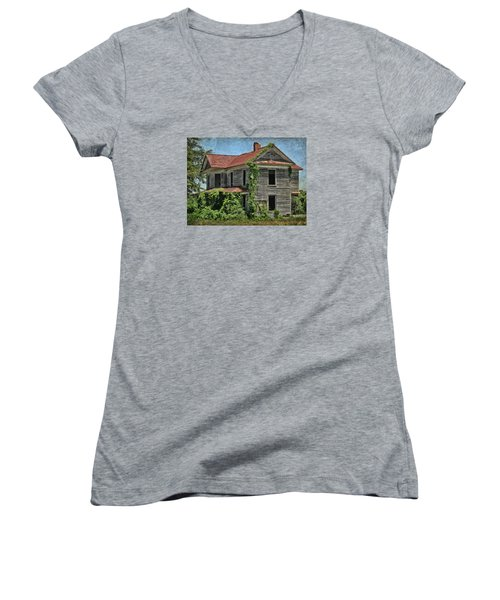 Women's V-Neck T-Shirt (Junior Cut) featuring the photograph Back To Nature by Victor Montgomery
