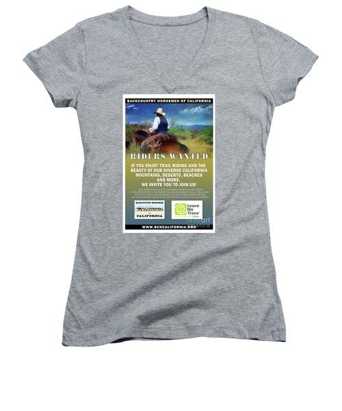 Backcountry Horsemen Join Us Poster Women's V-Neck
