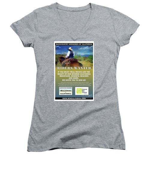 Backcountry Horsemen Join Us Poster Women's V-Neck (Athletic Fit)